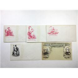 Patriotic Envelope Quintet, ca. 1861-65.