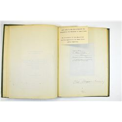 """Book titled, """"Through Warring Countries to the Mountain of God"""", ca.1914."""