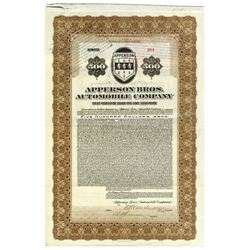 Apperson Bros. Automobile Co., 1922 Issued $500 Bond.