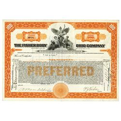 Fisher Body Ohio Co., 1922 100 Shares, I/C Stock Certificate.
