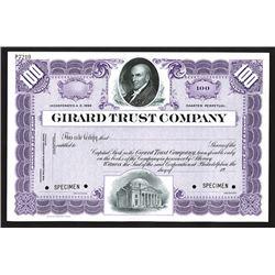 Girard Trust Co., ca.1900-1920 Specimen Stock