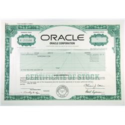 Oracle Corporation, 2002 I/U Stock Certificate.