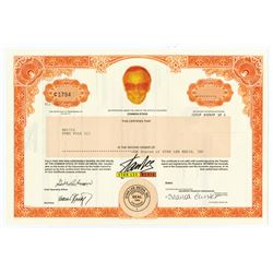 Stan Lee Media, 2001 (Inc.1996) I/U Stock Certificate for 1 Share.