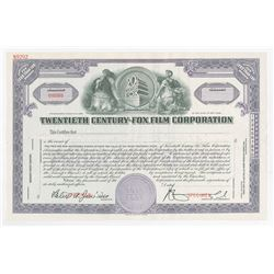 Twentieth Century-Fox Film Corporation, 1935 Specimen Stock Certificate.