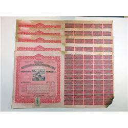 Abastecedora De Aceites Para Combustible y Refinadora de Petroleo. S.A., 1915 Issued Bond Group.