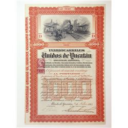 Ferrocarriles Unidos de Yucatan, 1903 Issued Bond