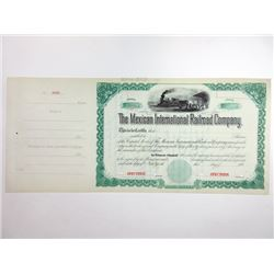 Mexican International Railroad Co., 1880-1889 Specimen Stock Certificate
