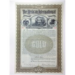Mexican International Railroad Co., 1897 Issued 4% Gold Coupon Bond.