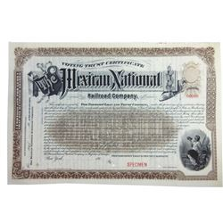 Mexican National Railroad Co., ca.1900-1910 Specimen Stock Certificate Pair.