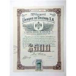 Mexican Railroad Issued Bond Pair ca.1908-1918