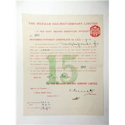 Mexican Railway Co., Ltd., 1900-1919 Pair of Specimen Certificates