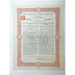 Mexican Union Railway Ltd., 1910 Issued Bond