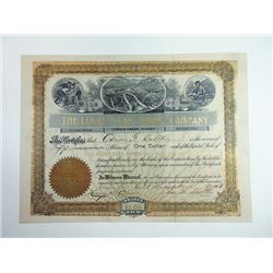 Lucky Star Mining Co., 1903 Issued Stock Certificate.