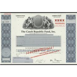 Czech Republic Fund, Inc., 1994 Specimen Stock.