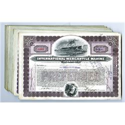 International Mercantile Marine Co., ca.1910-1920 Issued Stocks Certificates 80+ Pieces