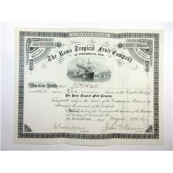 Rama Tropical Fruit Co. of Portsmouth, Ohio, 1891 Issued Stock Certificate.