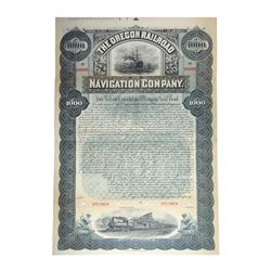 Oregon Railroad and Navigation Co., 1896 Specimen Gold Bond.