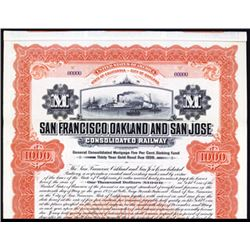 San Francisco, Oakland and San Jose Cons. Railway Specimen.