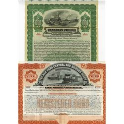 Pair of Railroad Bonds, ca.1900-1940 Bonds