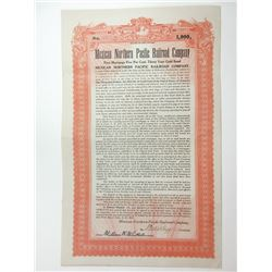 Mexican Northern Pacific Railroad Co., 1917 Issued Bond