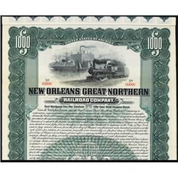 New Orleans Great Northern Railroad Co., 1905 Specimen Gold Coupon Bond.