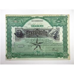 Texas and Pacific Railway Co., 1919 Issued and Cancelled Stock Certificate
