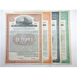 Texas and Pacific Railway Co., 1927-1929 Group of Specimen Bonds