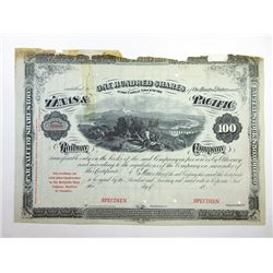 Texas and Pacific Railway Co., ca.1850-1900 Specimen Stock Certificate