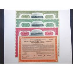 Texas and Pacific Railway Co., ca.1920-1940 Group of Specimen Bonds