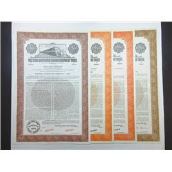 Texas and Pacific Railway Equipment Trust, 1949-1963 Group of Specimen Bonds