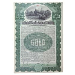 La Dicha & Pacific Railroad Co., 1906 Issued 6% Gold Coupon Bond.