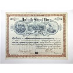 Duluth Short Line Railway Co., 1900 Issued Stock Certificate.