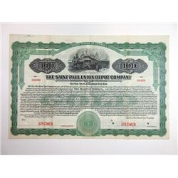 Saint Paul Union Depot Co., 1918 Specimen Bond.