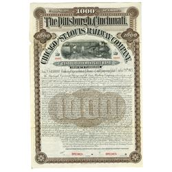 Pittsburgh, Cincinnati, Chicago and St.Louis Railway Co., 1903 Specimen Bond.