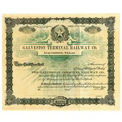 Galveston Terminal Railway Co., ca.1900-1909 Specimen Stock Certificate