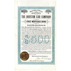 Houston Car Co., 1893 Issued Bond