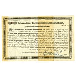 International Railway Improvement Co., 1883 Dividend Certificate