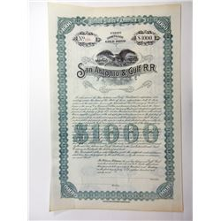 San Antonio & Gulf R.R., Unissued Pair of Bonds