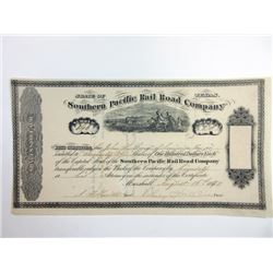 Southern Pacific Rail Road Co., 1870 Issued Stock Certificate