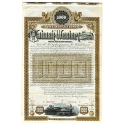 Wabash-Western Railway Co., 1887 Specimen Bond