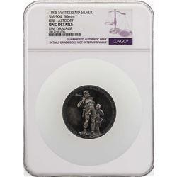 1895 Switzerland Uri - Altdorf Silver Medal 50mm NGC UNC Details