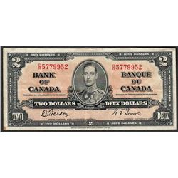 1937 $2 Bank of Canada Note