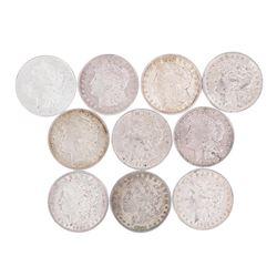 Lot of (10) 1921 $1 Morgan Silver Dollar Coins