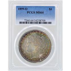1899-O $1 Morgan Silver Dollar Coin PCGS MS64 Great Toning