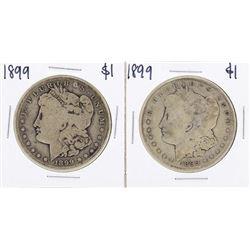 Lot of (2) 1899-S $1 Morgan Silver Dollar Coins