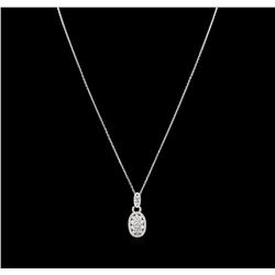 14KT White Gold 1.15 ctw Diamond Pendant With Chain