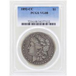 1892-CC $1 Morgan Silver Dollar Coin PCGS VG08