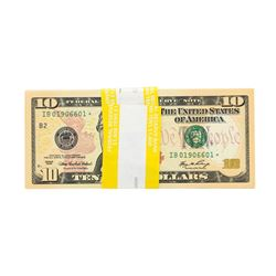 Pack of (100) Consecutive 2006 $10 Federal Reserve STAR Notes Uncirculated