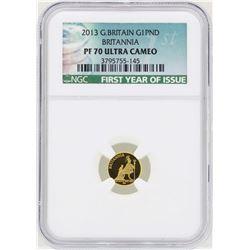 2013 Great Britain 1 Britannia Pound Gold Coin NGC PF70 Ultra Cameo