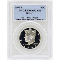 1999-S Kennedy Silver Half Dollar Coin PCGS PR69DCAM